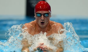 Michael Jamieson on his way to a silver medal in the 200m breaststroke at the London 2012 Olympic Games.