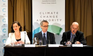 Climate Change Authority members Anthea Harris, Professor David Karoly and Professor Clive Hamilton in 2012.