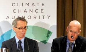 Professors David Karoly and Clive Hamilton at a 2012 Climate Change Authority media conference