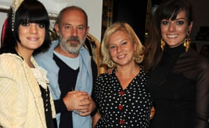 Lily Allen with her father, Keith Allen, mother, Alison Owen, and sister Sarah Owen