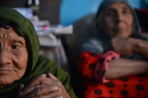Two of Mahgul's sisters – Habiba, 77, foreground, and Shafiqa, 67 – in their house in Kabul