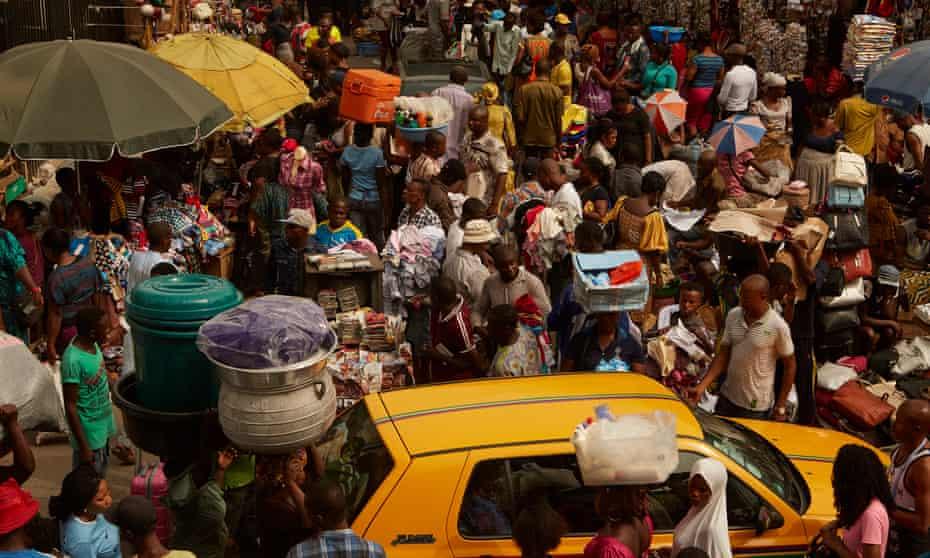 Balogun market in Lagos, Nigeria.