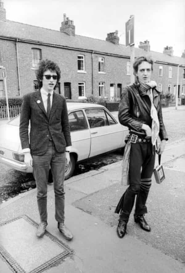 Nick Kent with John Cooper Clarke in Manchester, August 1978.