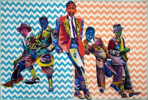 Sunday Morning by textile artist Bisa Butler.