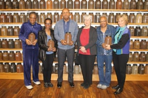 Dr Jackie Jordan Irvine, Dr Angela Jordan Davis, Bryan Stevenson, Karen Branan, Dr Jennifer Jordan and the author's sister, Dr Barbara Williams.