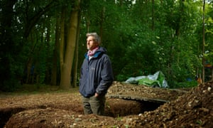 Larch Maxey photographed at his Colne Valley HS2 protest camp.