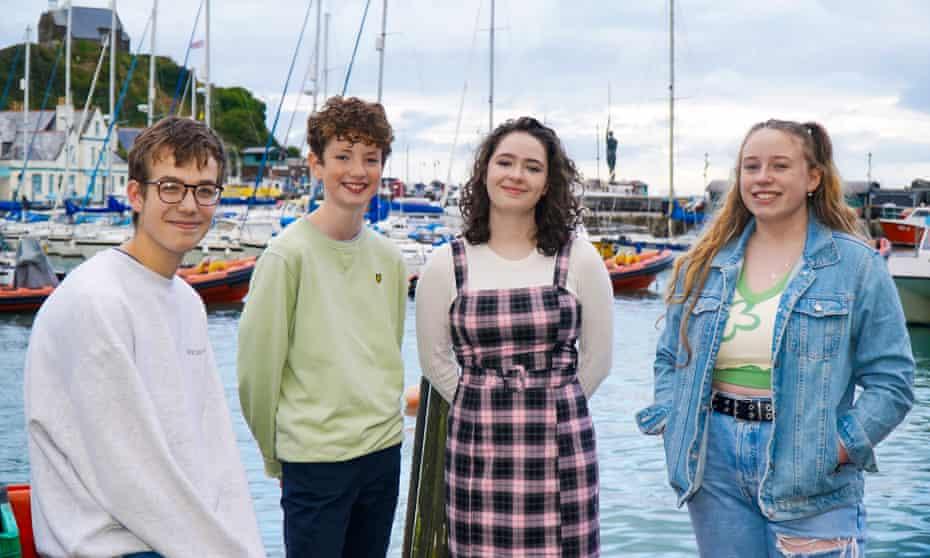 (From left:) Conor Warren, 15; Joseph Carter, 14; Bridie Downing, 16; Tegan Phillips, 16.
