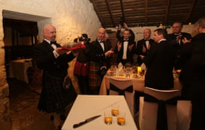 The haggis is carried in