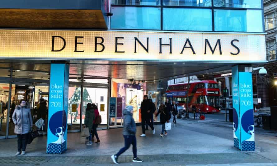 Debenhams on Oxford Street