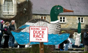 Bibury has not one but two duck races on Boxing Day.
