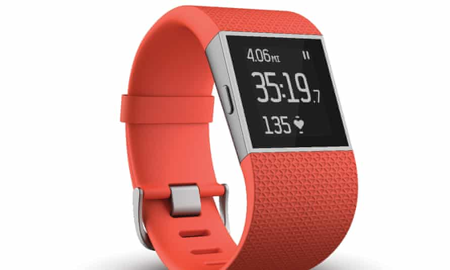 The Fitbit Surge, the highest specced model of Fitbit on the market currently.