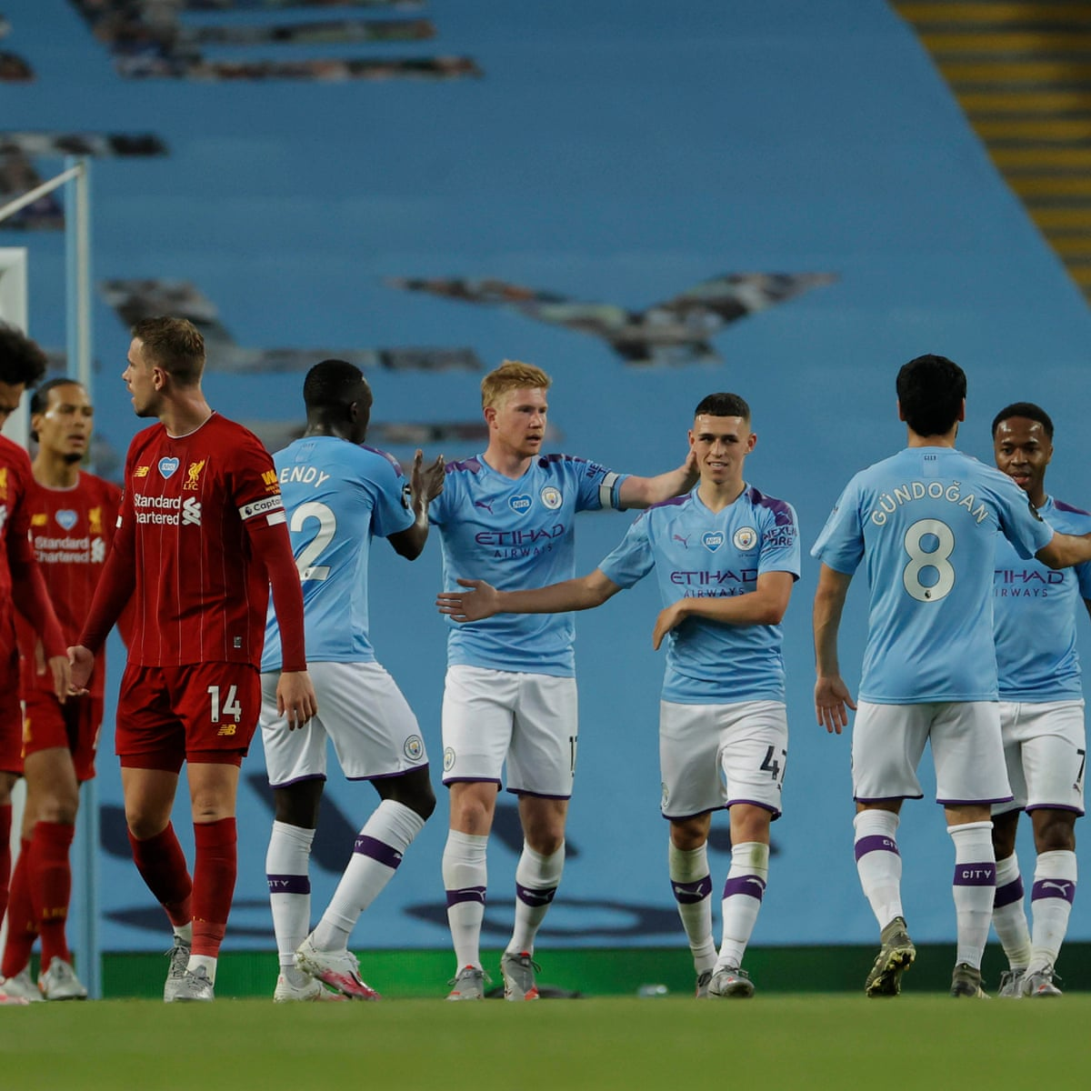 Manchester City 4-0 Liverpool: Premier League – as it happened   Football