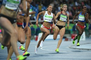 Jessica Ennis-Hill in action during the 200m race in the heptathlon