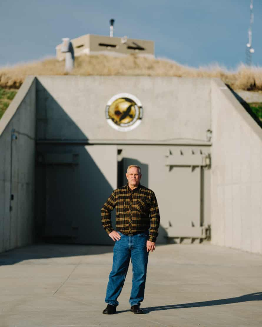 Owner Larry Hall outside the Survival Condo, once a US government missile silo