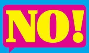 Speech bubble saying 'No!'