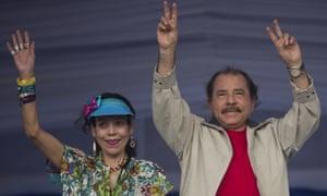 Rosario Murillo and Daniel Ortega