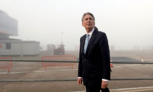 Philip Hammond at the Eastern Docks in Southampton.