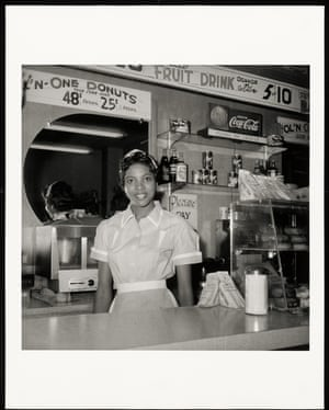 Helen Ann Smith at the diner Harlem House, Beale St, Memphis, TN in the 1950s.