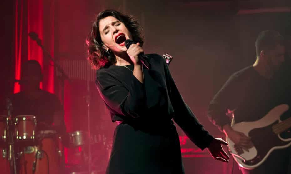 Jessie Ware performing in Berlin.