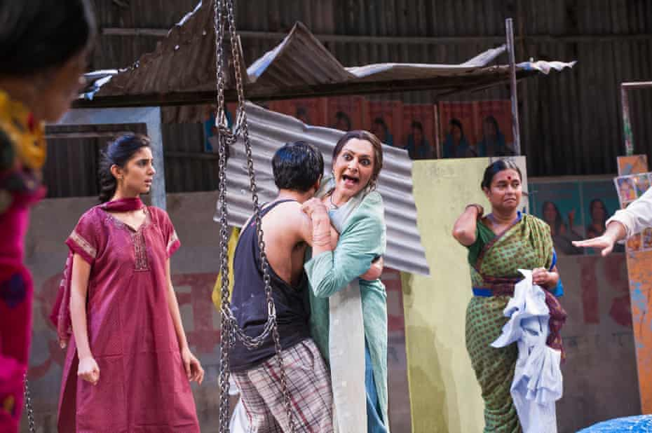 Meera Syal, centre, in Behind the Beautiful Forevers at the National Theatre in 2014.