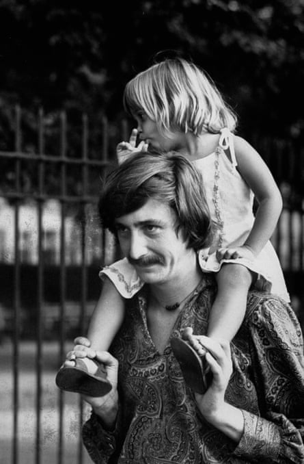 William Hjortsberg with his daughter, Lorca, in 1969.