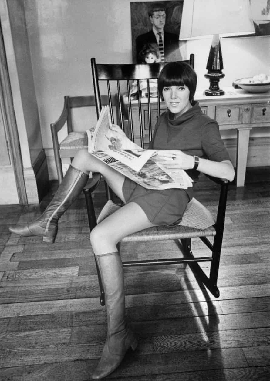 Mary Quant at home in London in 1967