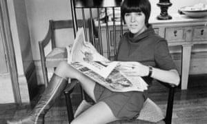 Mary Quant wearing a miniskirt in 1967