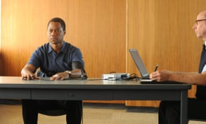 On trial … Cuba Gooding Jr in a scene from The People v OJ Simpson: American Crime Story