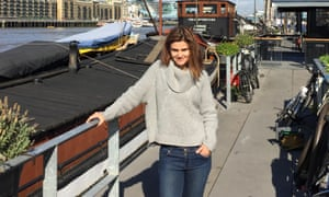 Jo Cox,photographed by the Thames, where she lived on a narrowboat.