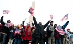Washington monument obama inauguration January 2009