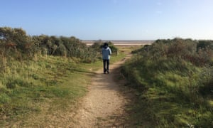 Beach path at Gibraltar point nature reserve