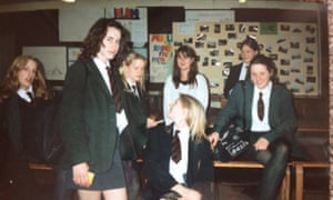 Miss Gillen surrounded by her adoring students around 1996.