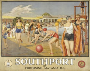 Fortunino Matania's 1925 poster for Southport Lido.