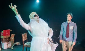 Tom Lenk as Tilda and Byron Lane as Walt in Tilda Swinton Answers An Ad on Craigslist at the Vaults, London.