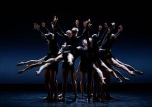 San Sebastian, Spain: dancers perform Mozart a 2 et Sinfonia by choreographer Thierry Malandain at the Victoria Eugenia Antzokia theatre