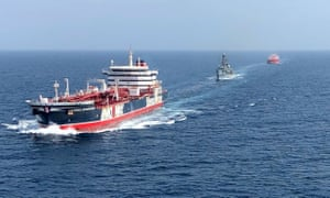 The HMS Montrose accompanying the Stena Important (left) and the Sea Ploeg in the Gulf.