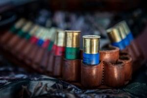 A hunter's gun cartridge belt