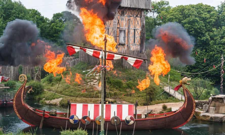 The Vikings show at Puy du Fou theme park in Vendée, western France.