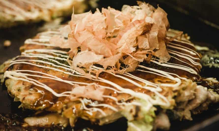 Okonomiyaki cooked in front of you at Okan South Bank
