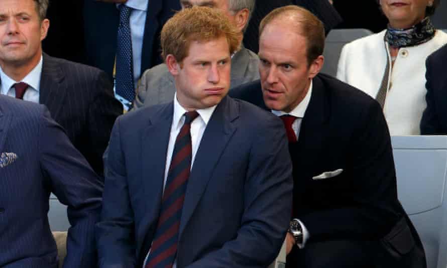 Prince Harry and his private secretary, Edward Lane Fox