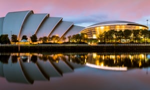 The SEC Armadillo and SSE Hydro venues, Glasgow, on the Scottish Event Campus which will host the COP 26 talks in November.