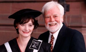 Tony Booth with Cherie in 1997