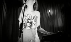 Teen spirit: Victoria Cecelia of Gliss wears her favourite band T-shirt ontage in 2013.