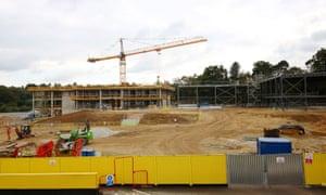 The construction site in Sevenoaks, Kent, where an annexe to the Weald of Kent girls' grammar school is being built.