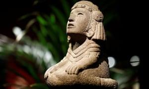 The Aztec water goddess Chalchiuhtlicue.