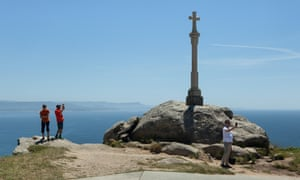The traditional Galician calvary at Cape Finisterre