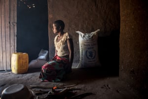 Estere Chimkango, 24, at her home in Chikwawa, in southern Malawi