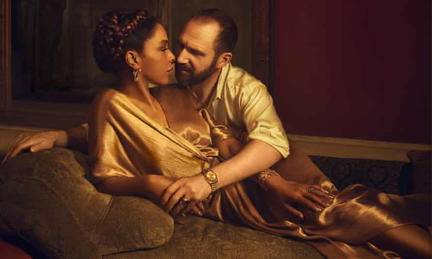 Sophie Okonedo and Ralph Fiennes as Antony and Cleopatra