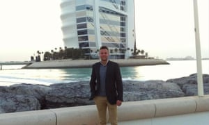 Jamie Harron had been working in Afghanistan and was on a two-day stopover in Dubai when the incident happened.
