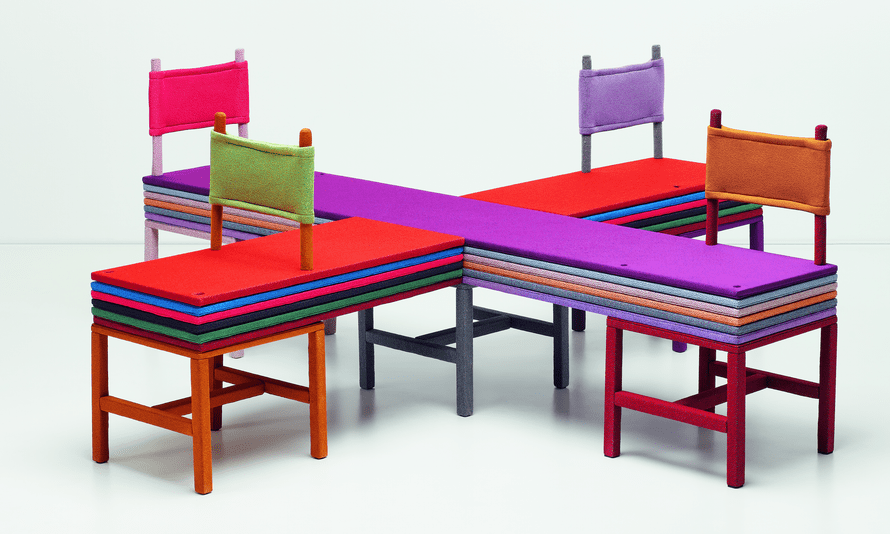 Yinka Ilori's A Trifle of Colour (2020) created for the Kvadrat Knit! exhibition to be held at Three Days of Design this September